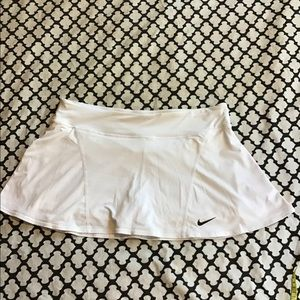 Classic Nike white tennis skirt with shorties!
